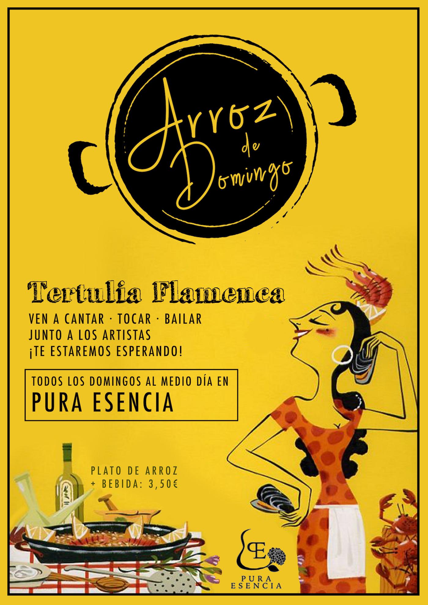 los domingos flamenco y paella en Sevilla en Tablao Flamenco Pura Esencia Sevilla