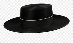 sombrero negro de ala ancha